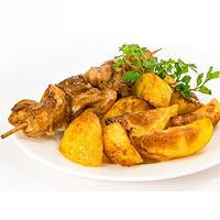Шашлык куриный с картофелем по-селянски